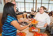 during the Cooking for Change challenge at Rice University, April 12, 2014.