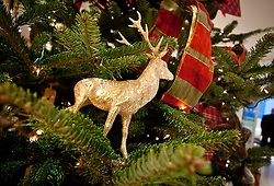 THEMENBILD - WEIHNACHTEN, weihnachtliche Dekoration, ein goldenes Reh mit Schleifen, Bild am 02.12.2010 aufgenommen, EXPA Pictures © 2011, PhotoCredit: EXPA/ J. Feichter
