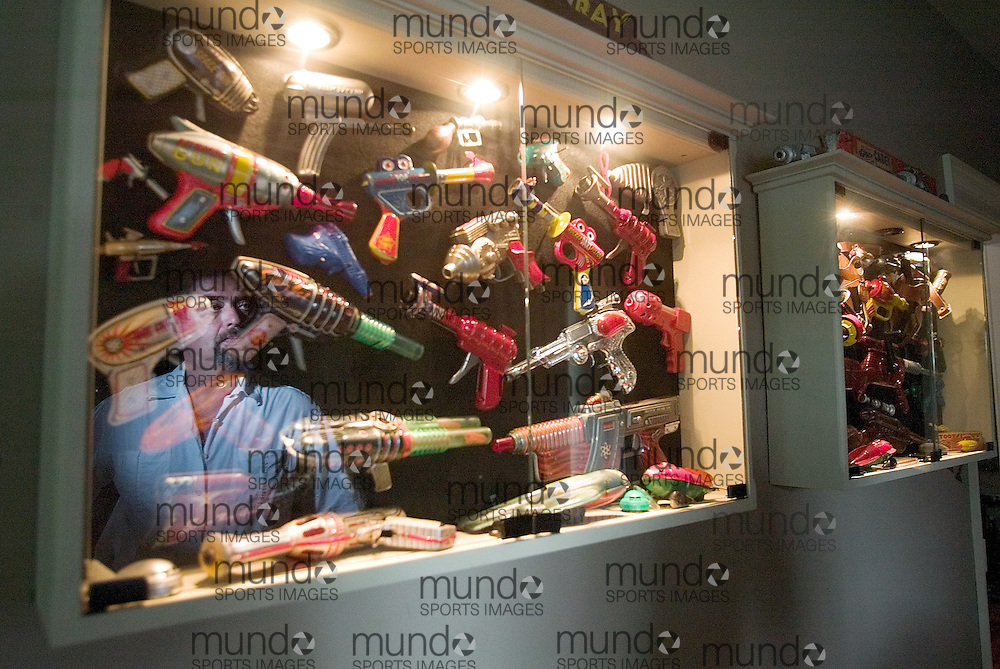 St.Marys, Ontario ---06/5/30--- Lorne Eedy's has  some modern touches like his toy gun collection in his century and a half old home on Queen Street in historic St. Marys, Ontario..GEOFF ROBINS The Globe and Mail<br />