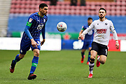 Wigan Athletic defender Leon Balogun in action during the EFL Sky Bet Championship match between Wigan Athletic and Millwall at the DW Stadium, Wigan, England on 22 February 2020.