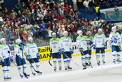 Players of Slovenia look dejected after the Ice Hockey match between Slovenia and Norway at Day 8 in Group B of 2015 IIHF World Championship, on May 8, 2015 in CEZ Arena, Ostrava, Czech Republic. Photo by Vid Ponikvar / Sportida