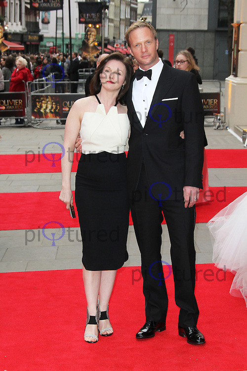 Rupert Penry-Jones; Dervla Kirwan, The Laurence Olivier Awards, Royal Opera House London UK, 28 April 2013, (Photo by Richard Goldschmidt)