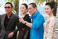 Actor Daoming Chen, actress Li Gong, director Yimou Zhang, actress Huiwen Zhang at the photo call for the film Coming Home at the 67th Cannes Film Festival, Tuesday 20th May 2014, Cannes, France.