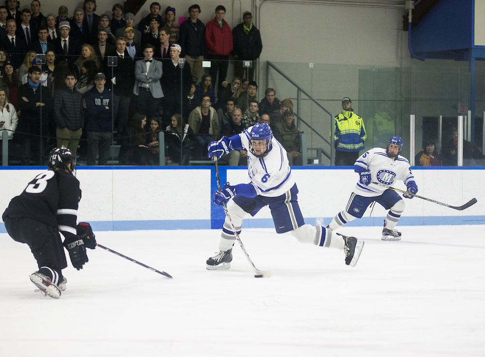 Andrew Reis during the second period of a NCAA Division III hockey game between Colby College and Bowdoin College on December 4, 2015 at Alfond Rink on the campus of Colby College in Waterville, ME.  (Dustin Satloff)