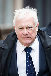 © Licensed to London News Pictures. File pic dated 23/01/2012. London, UK.  The BBC today (16/07/2013) released its annual report which revealed that the Pollard Review, which looked into Newsnight's dropped investigation into Savile, cost £2.4m. Pictured - Lord Patten, BBC Trust chairman, arriving at the Royal Courts of Justice on January 23rd, 2012, to give evidence at the Leveson Inquiry in to press standards. Photo credit : Ben Cawthra/LNP