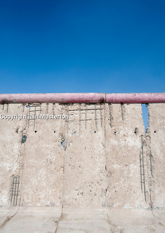 Remaining intact section of the Berlin Wall at East Side Gallery in Berlin