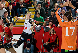 Maja Zrnec of Krim vs Sos Soby at handball match of Round 2 of Champions League between RK Krim Mercator and Aalborg DH, on October 31, 2009, in Arena Kodeljevo, Ljubljana, Slovenia.  Krim won 30:23. (Photo by Vid Ponikvar / Sportida)