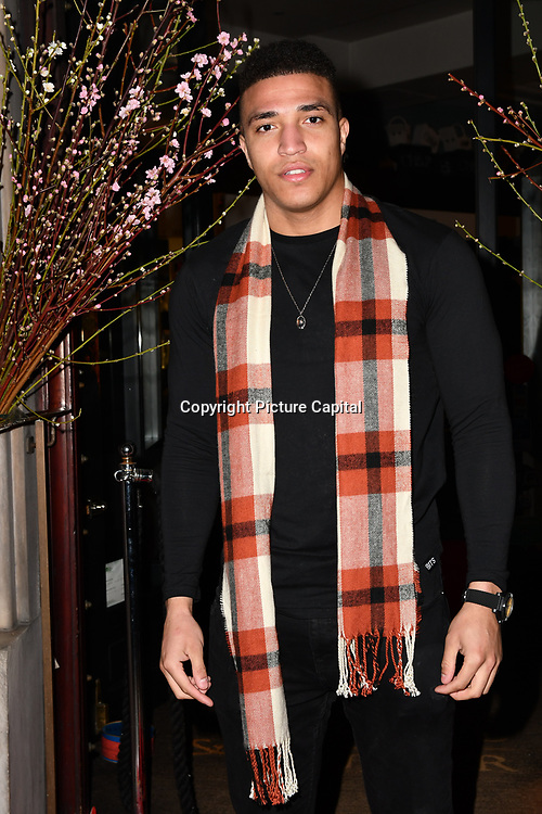 Joshua Christie of Shipwrecked attend Travel bag brand hosts the launch of its exclusive luxury collection of handbags in collaboration with model and designer Anastasiia Masiutkina  D'Ambrosio on 26 March 2019, Caviar House & Prunier 161 Piccadilly, London, UK.