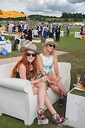 JOANNA DELLA RAGIONE; EMMA SHERRY, The Veuve Clicquot Gold Cup Final.<br /> Cowdray Park Polo Club, Midhurst, , West Sussex. 15 July 2012.
