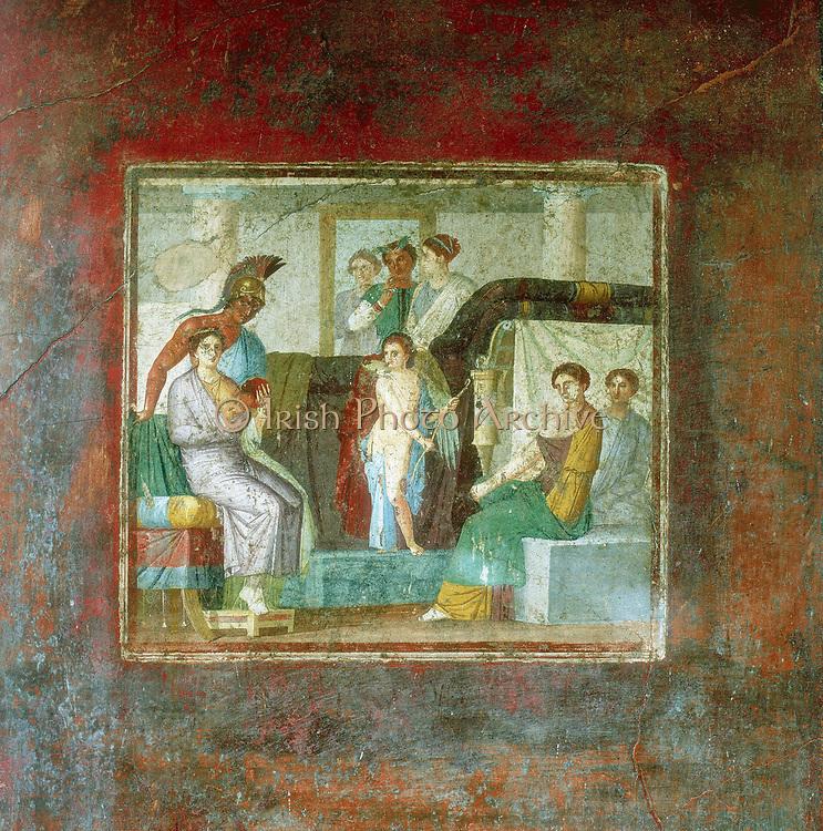 Marriage of Mars and Aphrodite.1st century AD. House of Lucretius Fronton, Pompei. Fresco