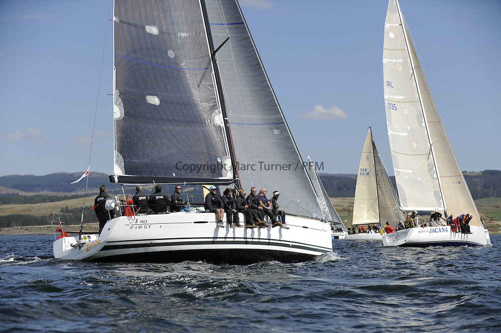 The Clyde Cruising Club's Scottish Series held on Loch Fyne by Tarbert. Day 2 racing in a perfect southerly<br /> GBR8140C ,Zephyr ,Steven Cowie ,CCC/FYC/RGYC ,First 40