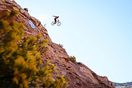 Kyle Strait during finals at Red Bull Rampage in Virgin, UT. © Brett Wilhelm