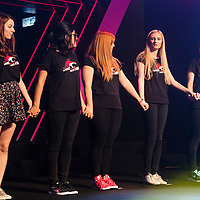(From left to right): Ayrine,  Mey, Fillio, Panda, and Fifa of Team Just Kittin' line up prior the game against team HLL during the SHERO Invitational of the E-Sports Festival 2017 Hong Kong at the Hong Kong Convention and Exhibition Centre on 26 August 2017 in Hong Kong, China. Photo by Yu Chun Christopher Wong / studioEAST