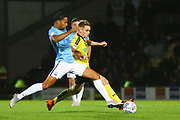 Burton Albion Midfielder Jake Hesketh (8) and Southend United's Timothée Dieng (8) during the EFL Sky Bet League 1 match between Burton Albion and Southend United at the Pirelli Stadium, Burton upon Trent, England on 2 October 2018.
