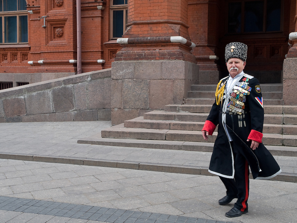 Moskau/Russische Foederation, RUS, 07.05.2008: Mit Auszeichnungen geschmueckter 2. Weltkriegs Veteran in der Naehe vom Roten Platz. Zwei Tage spaeter (9. Mai 2008) findet dort die grosse Siegerparade statt.<br /> <br /> Moscow/Russian Federation, RUS, 07.05.2008: WWII veteran decorated with medals close to Red Square where the Victory Day parade took place at the 9th of May 2008.