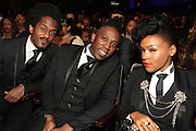 October 13, 2012- Bronx, NY: Recording Artist Janelle Monae and band members at the Black Girls Rock! Awards presented by BET Networks and sponsored by Chevy held at the Paradise Theater on October 13, 2012 in the Bronx, New York. BLACK GIRLS ROCK! Inc. is 501(c)3 non-profit youth empowerment and mentoring organization founded by DJ Beverly Bond, established to promote the arts for young women of color, as well as to encourage dialogue and analysis of the ways women of color are portrayed in the media. (Terrence Jennings)