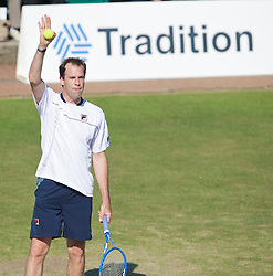 NOTTINGHAM, ENGLAND - Thursday, June 11, 2009: Greg Rusedski (GBR) during on day one of the Tradition Nottingham Masters tennis event at the Nottingham Tennis Centre. (Pic by David Rawcliffe/Propaganda)