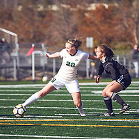 2nd year mid-fielder, Taylor Bubnick (28) of the Regina Cougars during the Women's Soccer home game on Sun Oct 07 at U of R Field. Credit: Arthur Ward/Arthur Images