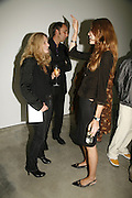 Deborah Orr, Will Self and Saffron Burrows, Work by Mexican artist, Gabriel Orozco. Gallery opening & private view at new White Cube space, 25-26 Mason's Yard, London and afterwards at Claridges. London. 27 September 2006. <br />