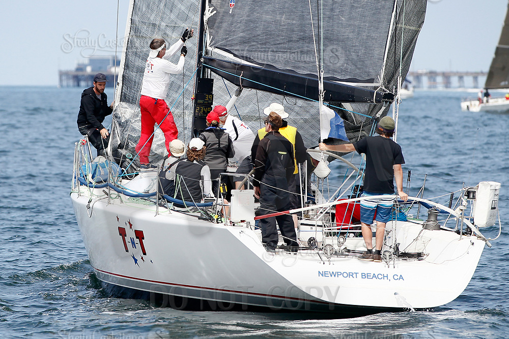 27 April 2018:  71st  Newport to Ensenada, Mexico International Yacht Race in the Pacific Ocean off the coast of Southern California. NOSA  48001 PHRF-A T-N-T BYC Wes Selby