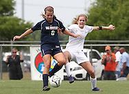 May 12, 2012; Huntsville, AL, USA;  Oak Mountain's Montana Etten-Bohm (6) pushes away Auburn's Abby Jones (3) Mandatory Credit: Marvin Gentry