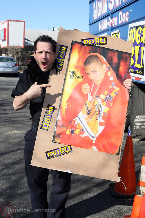 """Randy Spears at Shred Your Ex and Shred Chris Brown CDs and Posters for Pre-Valentines Day Bash held at WBLI Studios in West Babylon, Long Island on February 13, 2009..""""Shred Your Ex"""" party the day before Valentines Day. Radio Station WBLI has invited members of Rihanna's Fan Club and other fans across the nation to join the pop star's side along with .others who are """"unlucky in love.""""."""