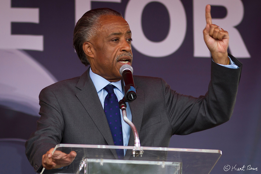 March 31, 2012 - Sanford, Florida, U.S. - Reverend AL SHARPTON speaks at the rally in Sanford, Florida for the justice of Treyvon Martin.