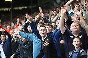 Leeds fans celebrate a goal during the EFL Sky Bet Championship match between Leeds United and Burton Albion at Elland Road, Leeds, England on 9 September 2017. Photo by John Potts.