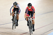Natasha Hansen and Olivia Podmore WE Sprint during the 2019 Vantage Elite and U19 Track Cycling National Championships at the Avantidrome in Cambridge, New Zealand on Friday, 08 February 2019. ( Mandatory Photo Credit: Dianne Manson )