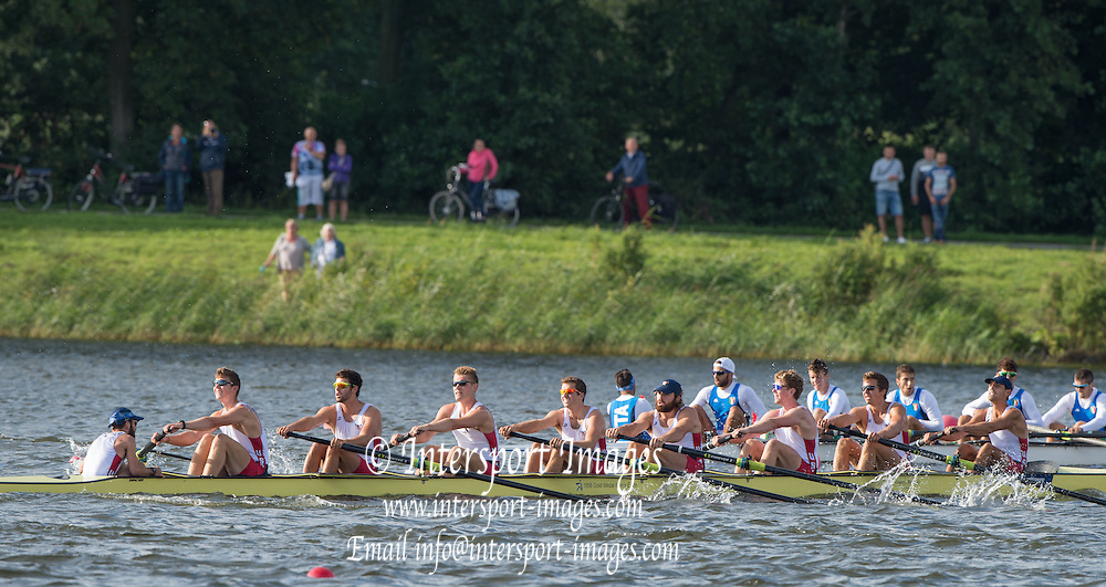 Rotterdam. Netherlands. Heat 2 GER BM18+ and USA BM8+ {WRCH2016} at the Willem-Alexander Baan.   Sunday  21/08/2016 <br /> <br /> [Mandatory Credit; Peter SPURRIER/Intersport Images]