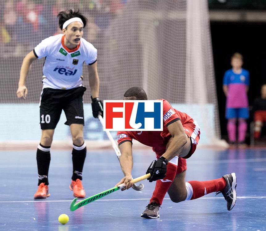 BERLIN - Indoor Hockey World Cup<br /> Men: Germany -  Trinidad &amp; Tobago<br /> foto: <br /> WORLDSPORTPICS COPYRIGHT FRANK UIJLENBROEK