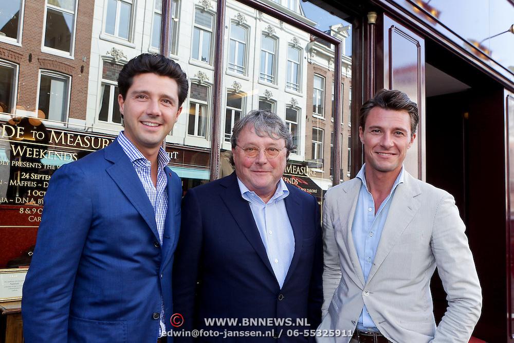 NLD/Amsterdam/20111001 - Opening DSG Instore van Eric Kusters, Oger Lusink en zonen Martijn en Sander