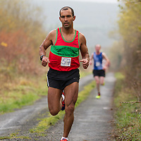 winner of the mens category in  the 5K road race in Lissycasey Julius Ceasar F Costa from Kilmurry Ibrickane A.C.