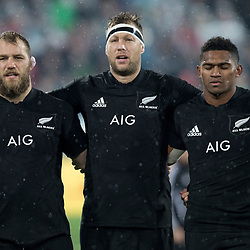 Owen Franks  Wyatt Crockett  Waisake Naholo during game 9 of the British and Irish Lions 2017 Tour of New Zealand, the second Test match between  The All Blacks and British and Irish Lions, Westpac Stadium, Wellington, Saturday 1st July 2017<br /> (Photo by Kevin Booth Steve Haag Sports)<br /> <br /> Images for social media must have consent from Steve Haag
