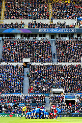 A full house at St Jame's Park in Newcastle watch on as Saracens take on Leinster Rugby in the Champions Cup Final - Mandatory by-line: Robbie Stephenson/JMP - 11/05/2019 - RUGBY - St James' Park - Newcastle, England - Leinster Rugby v Saracens - Heineken Champions Cup Final