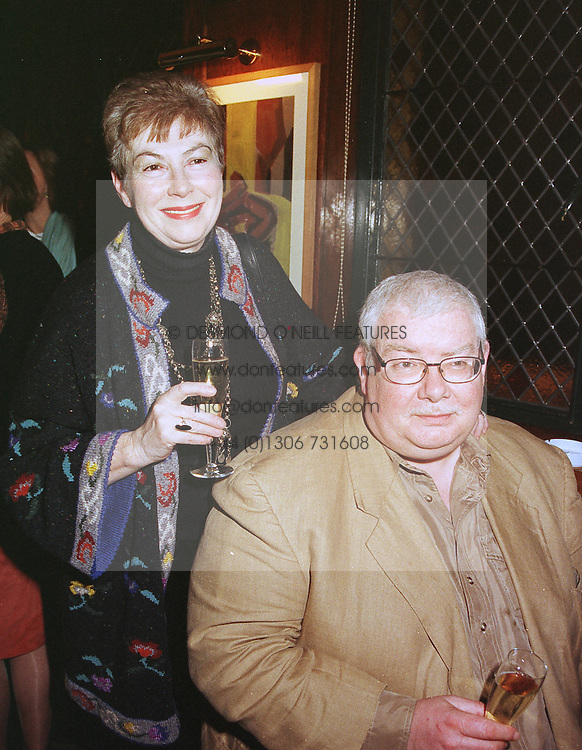 MR & MRS RICHARD GRIFFITHS, he is the actor, at a party in London on 10th March 1999.MPF 15