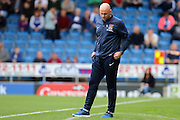 Northampton manager Rob Page after seeing his team concede a goal during the EFL Sky Bet League 1 match between Chesterfield and Northampton Town at the Proact stadium, Chesterfield, England on 17 September 2016. Photo by Aaron  Lupton.