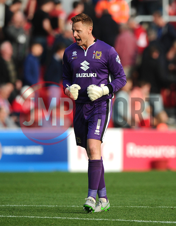 David Martin of Milton Keynes Dons celebrates on the final whistle  - Mandatory byline: Joe Meredith/JMP - 07966 386802 - 03/10/2015 - FOOTBALL - Ashton Gate - Bristol, England - Bristol City v MK Dons - Sky Bet Championship