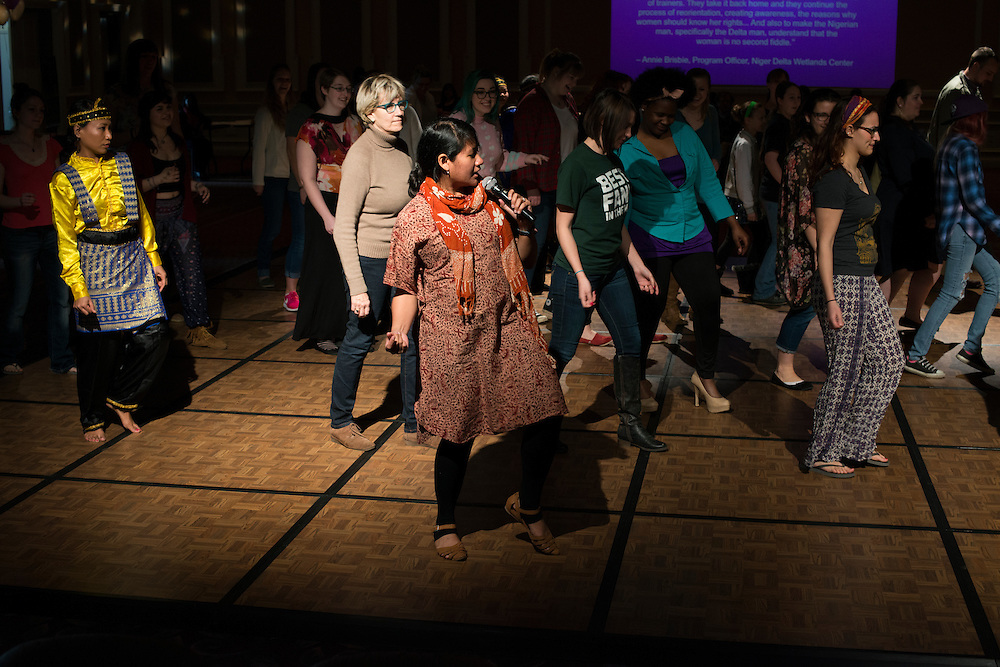 (I was told that this woman leading the dance is Arin Hening but her name does not exist in the email database so I am worried..?)<br />