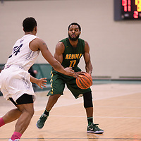 5th year forward Brian Ofori (11) of the Regina Cougars during the Men's Basketball home game on January 6 at Centre for Kinesiology, Health and Sport. Credit: Arthur Ward/Arthur Images