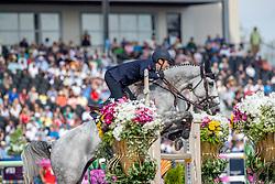 DE LUCA Lorenzo (ITA), Irenice Horta<br /> Tryon - FEI World Equestrian Games™ 2018<br /> FEI World Individual Jumping Championship<br /> Third cometition - Round A<br /> 3. Qualifikation Einzelentscheidung 1. Runde<br /> 23. September 2018<br /> © www.sportfotos-lafrentz.de/Stefan Lafrentz