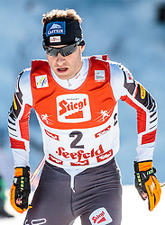 29.01.2017, Casino Arena, Seefeld, AUT, FIS Weltcup Nordische Kombination, Seefeld Triple, Langlauf, im Bild Bernhard Gruber (AUT) // Bernhard Gruber of Austria during Cross Country Gundersen Race of the FIS Nordic Combined World Cup Seefeld Triple at the Casino Arena in Seefeld, Austria on 2017/01/29. EXPA Pictures © 2017, PhotoCredit: EXPA/ JFK