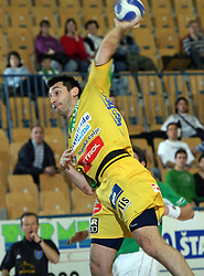 Dragan Gajic of Celje at handball match RK Celje Pivovarna Lasko vs RK Trimo Trebnje, for 3rd place of Slovenian Handball Cup, on March 30, 2008 in Celje, Slovenia. Celje PL won the game 26:19 and places third at Slovenian Cup. (Photo by Vid Ponikvar / Sportal Images).
