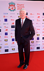 LIVERPOOL, ENGLAND - Thursday, May 10, 2018: Former Liverpool player Chris Lawler arrives on the red carpet for the Liverpool FC Players' Awards 2018 at Anfield. (Pic by David Rawcliffe/Propaganda)