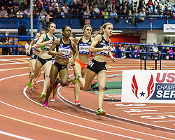Millrose Games: womens Wanamaker Mile, Mary Cain wins