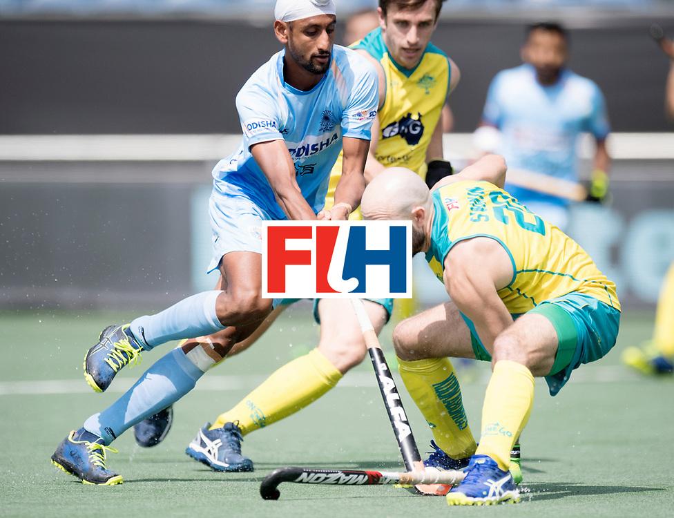 BREDA - Rabobank Hockey Champions Trophy<br /> India - Australia<br /> Photo: Mandeep Singh and Matthew Swann.<br /> COPYRIGHT WORLDSPORTPICS FRANK UIJLENBROEK