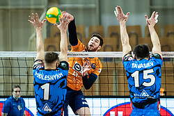 Vucevic Bozidar of ACH Volley during volleyball match between ACH Volley Ljubljana (SLO) and Kuzbas Kemerevo (RUS) n 2nd Round, group B of 2019 CEV Volleyball Champions League, on December 11, 2019 in Hala Tivoli, Ljubljana, Slovenia. Grega Valancic / Sportida