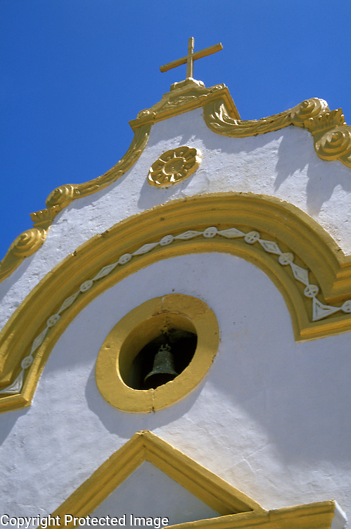 Detail of church in Tatuamunha, a village on the Atlantic coast, Alagoas, Brazil