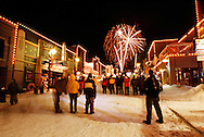 Olympic fireworks on Main Street, Park City UT USA