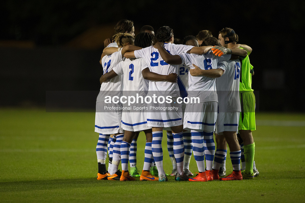 2015 October 13: Duke Blue Devils during a game against the Holy Cross Crusaders in Durham, NC. Holy Cross won 1-0.